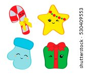 christmas cuties things sweetie ... | Shutterstock .eps vector #530409553