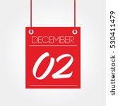 december 2   hanging calendar | Shutterstock .eps vector #530411479