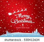 christmas greeting card. merry... | Shutterstock .eps vector #530412634