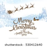 christmas greeting card with... | Shutterstock .eps vector #530412640