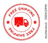 grunge red free shipping with... | Shutterstock .eps vector #530413990