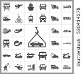 transportation icon vector... | Shutterstock .eps vector #530414278