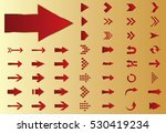 arrow vector red curve line up... | Shutterstock .eps vector #530419234