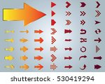 arrow vector gold curve line up ... | Shutterstock .eps vector #530419294