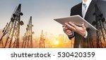 businessman working digital... | Shutterstock . vector #530420359