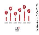 business data process chart.... | Shutterstock .eps vector #530423230