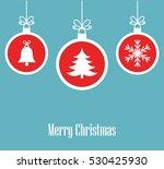 christmas balls ornaments... | Shutterstock .eps vector #530425930