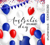 happy australia day 26 january... | Shutterstock .eps vector #530430280