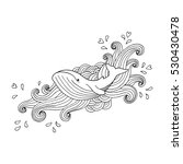 hand drawing whale in abstract... | Shutterstock .eps vector #530430478