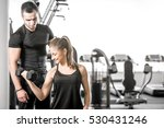 young adult woman working out... | Shutterstock . vector #530431246