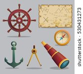 collection of pirate items for... | Shutterstock .eps vector #530431273