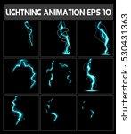 Vector Web Lightning Animation. ...