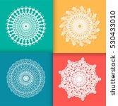 mandala motifs set. vintage... | Shutterstock .eps vector #530433010