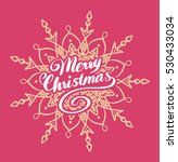 merry christmas typography with ... | Shutterstock .eps vector #530433034