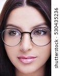 beautiful young woman wearing... | Shutterstock . vector #530435236