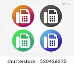 colored icon of phone symbol... | Shutterstock .eps vector #530436370
