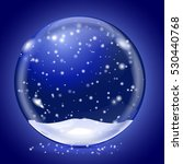 blue magic snow ball. on blue... | Shutterstock .eps vector #530440768