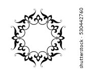 circular abstract floral... | Shutterstock .eps vector #530442760