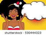 pop art face. sexy afro... | Shutterstock .eps vector #530444323