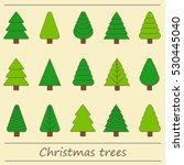 christmas trees vector | Shutterstock .eps vector #530445040