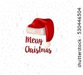 christmas typographic label.... | Shutterstock .eps vector #530446504