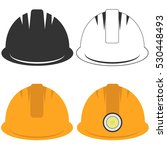 construction helmet  a set of... | Shutterstock .eps vector #530448493