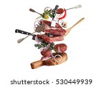 meat and beef meatballs with... | Shutterstock . vector #530449939