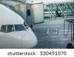 aircraft with passage corridor... | Shutterstock . vector #530451070