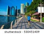 healthy man running exercise in ...   Shutterstock . vector #530451409
