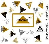 modern triangle geometric... | Shutterstock .eps vector #530453638