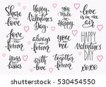 romantic lettering set.... | Shutterstock .eps vector #530454550