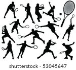 Tennis Silhouette 8 Vector