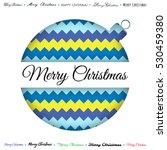 merry christmas paper greeting... | Shutterstock .eps vector #530459380