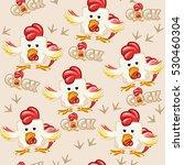 seamless pattern square cartoon ... | Shutterstock . vector #530460304