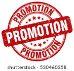 promotion. stamp. red round...