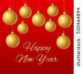 congratulation happy new year.... | Shutterstock .eps vector #530464894