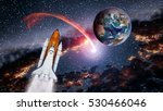 space shuttle spaceship launch... | Shutterstock . vector #530466046