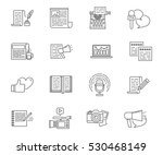 copywriting and writing set of... | Shutterstock .eps vector #530468149