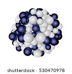 abstract 3d render   shape made ... | Shutterstock . vector #530470978