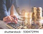 double exposure of businessman...   Shutterstock . vector #530472994