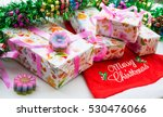 christmas background with... | Shutterstock . vector #530476066