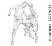 draw soccer player in action   Shutterstock . vector #530476786