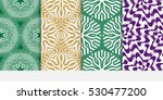set of green  purple  beige... | Shutterstock .eps vector #530477200