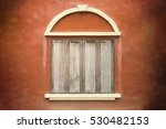 Abstract Old Wood Window On...