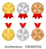 set of gold  silver and bronze... | Shutterstock .eps vector #530483920