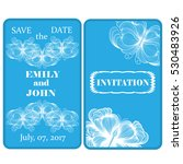 wedding invitation with... | Shutterstock .eps vector #530483926