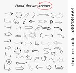 hand drawn arrows.doodle vector ... | Shutterstock .eps vector #530484664