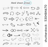 hand drawn arrows.doodle vector ... | Shutterstock .eps vector #530484670