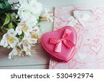 gift package with hearts and... | Shutterstock . vector #530492974