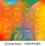 english calendar for 2017 on... | Shutterstock . vector #530494480